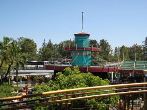 Disneyland Tomorrowland from the Monorail