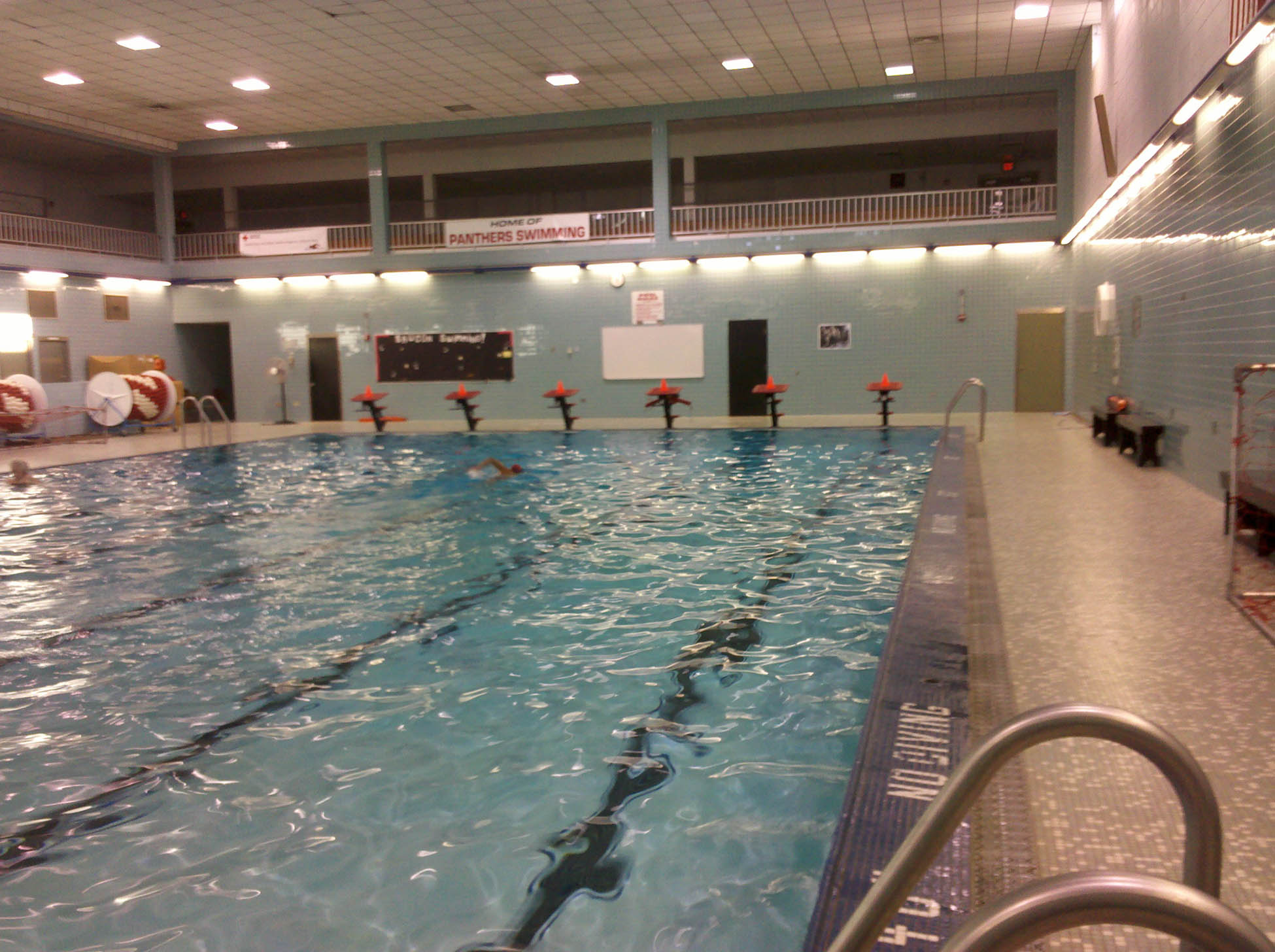 Swimming When It S Not Summer The High School Pool Amarez Feels Like Home